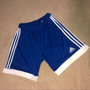 Adidas Blue and White Striped ClimaCool Shorts!